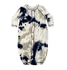 Baby Steps Navy/Grey Tie Dye Converter Gown