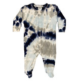Baby Steps Navy/Grey Tie Dye Footie