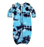 Baby Steps Navy/Turq Tie Dye Converter Gown