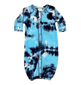 Baby Steps Navy/Turq Tie Dye Converter Gown