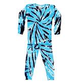 Baby Steps Turq/Navy Tie Dye Cotton Infant PJ Set