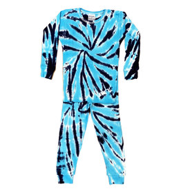 Baby Steps Turq/Navy Tie Dye Cotton PJ Set