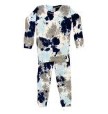 Baby Steps Navy/Grey Tie Dye Infant Cotton PJ Set