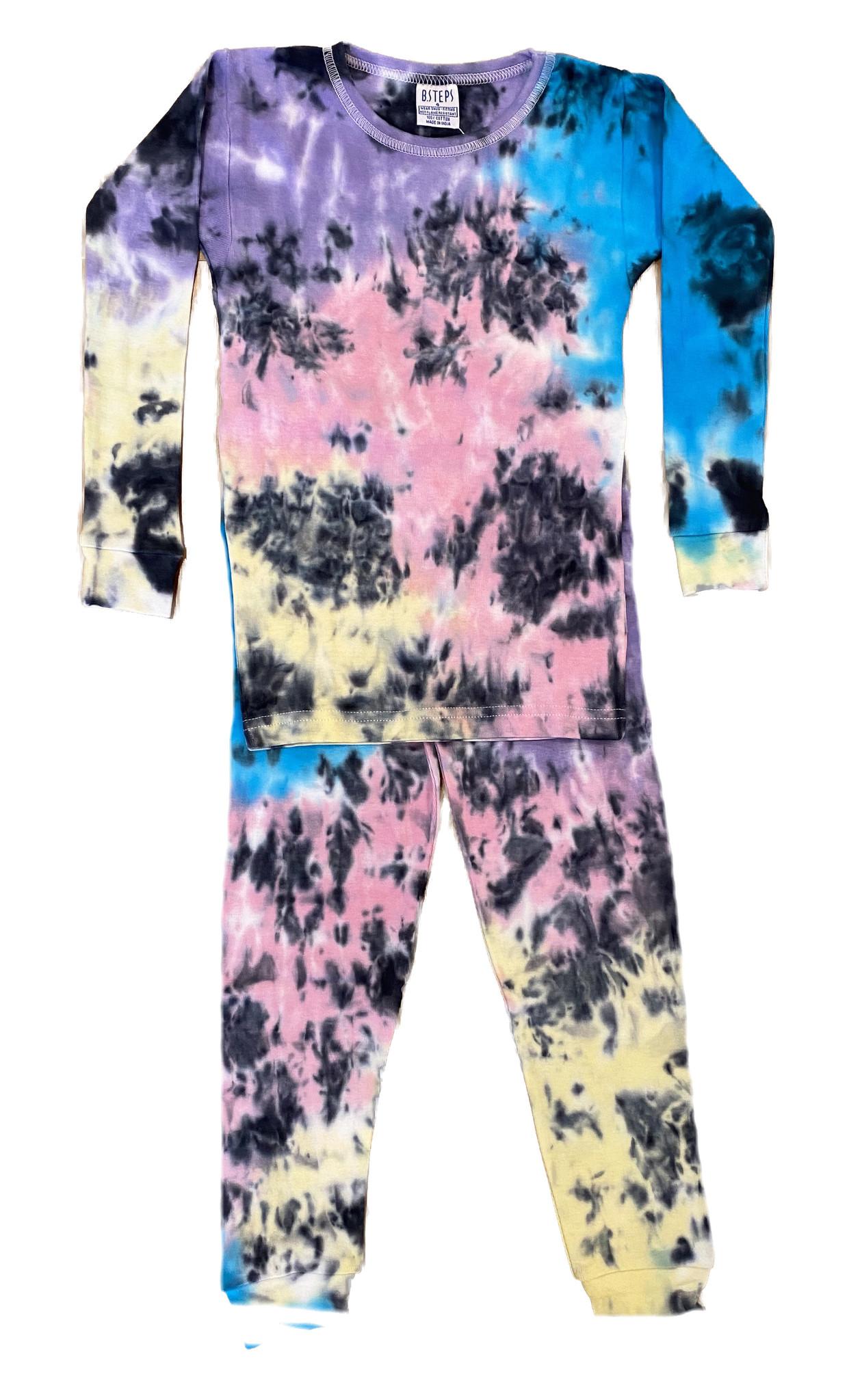 Baby Steps Isla Tie Dye Cotton Infant PJ Set