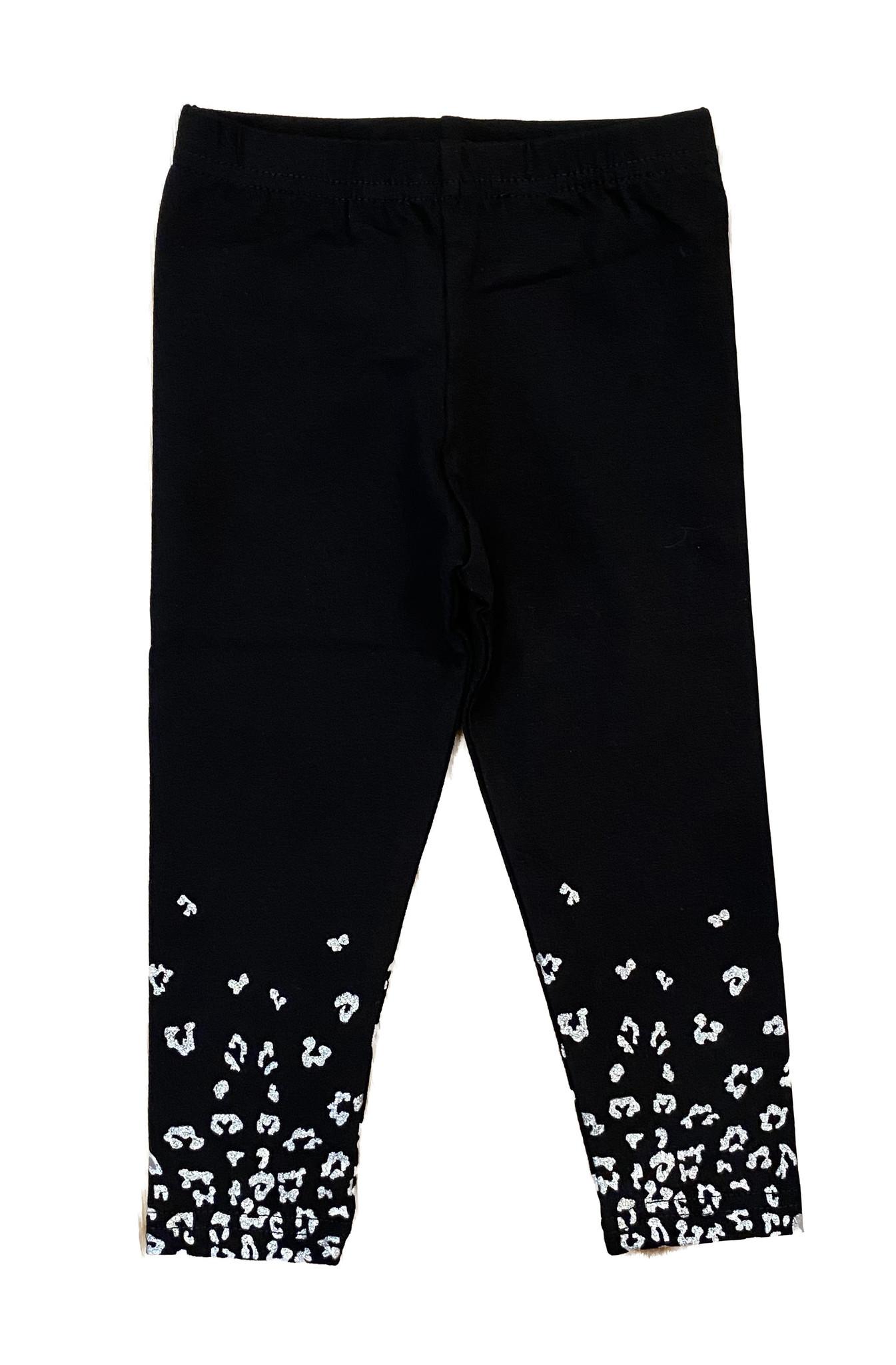 Black/ Metallic Cheetah Infant Legging