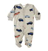 Baby Steps Grey Cars Footie