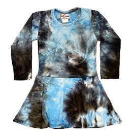 Dori Creations Turq/Black Tie Dye Dress