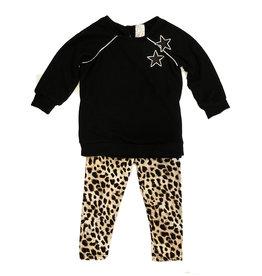 Little Mass Toddler Black with Leopard Star Set