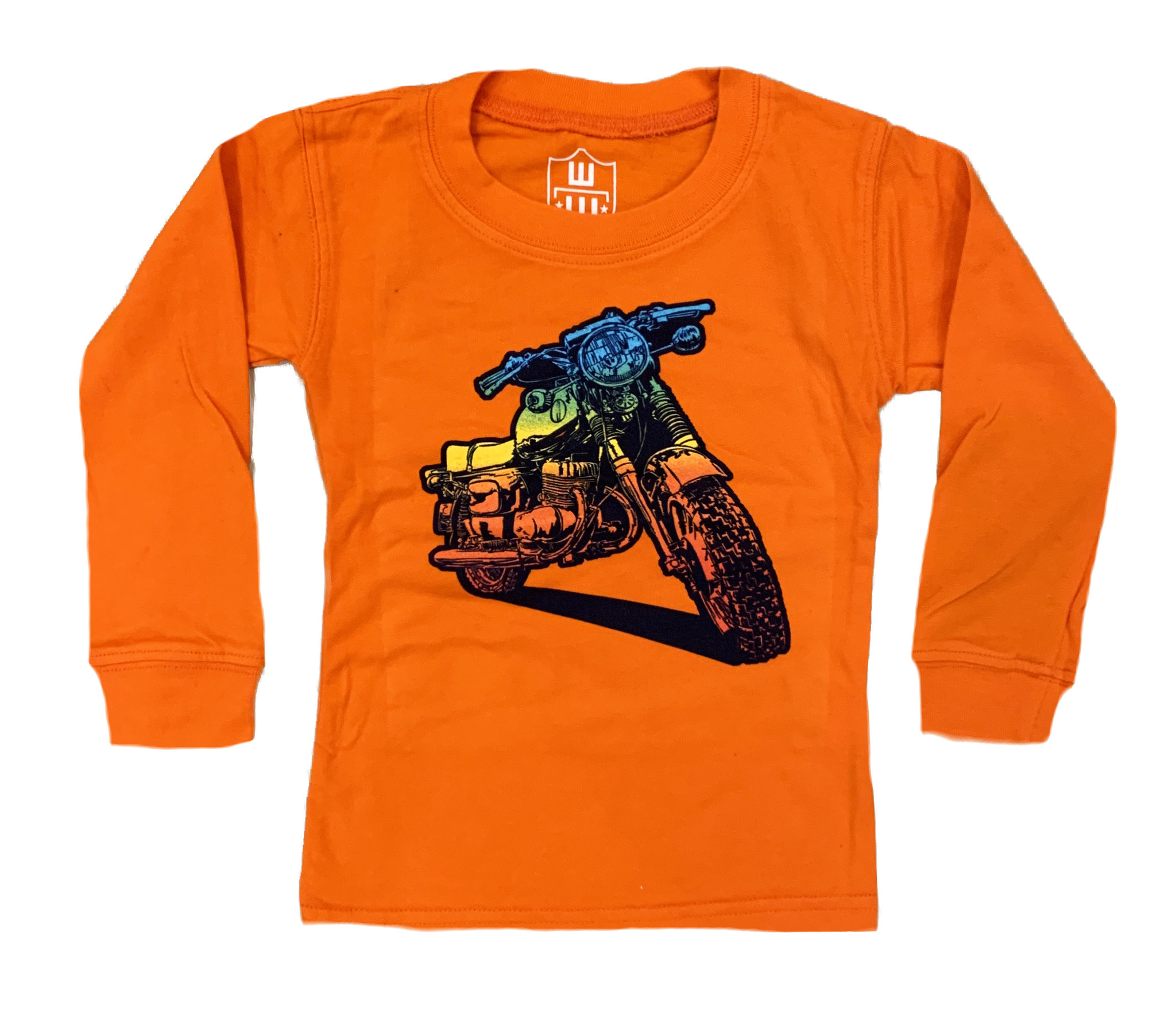 Wes and Willy Orange Bike Infant Tee