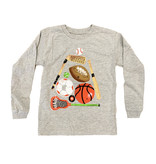 Wes and Willy Heather Grey Sport Balls Tee