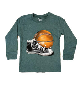 Wes and Willy Green BB Sneaker Infant Tee