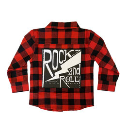 Mish Red Rock n Roll Infant Flannel Top