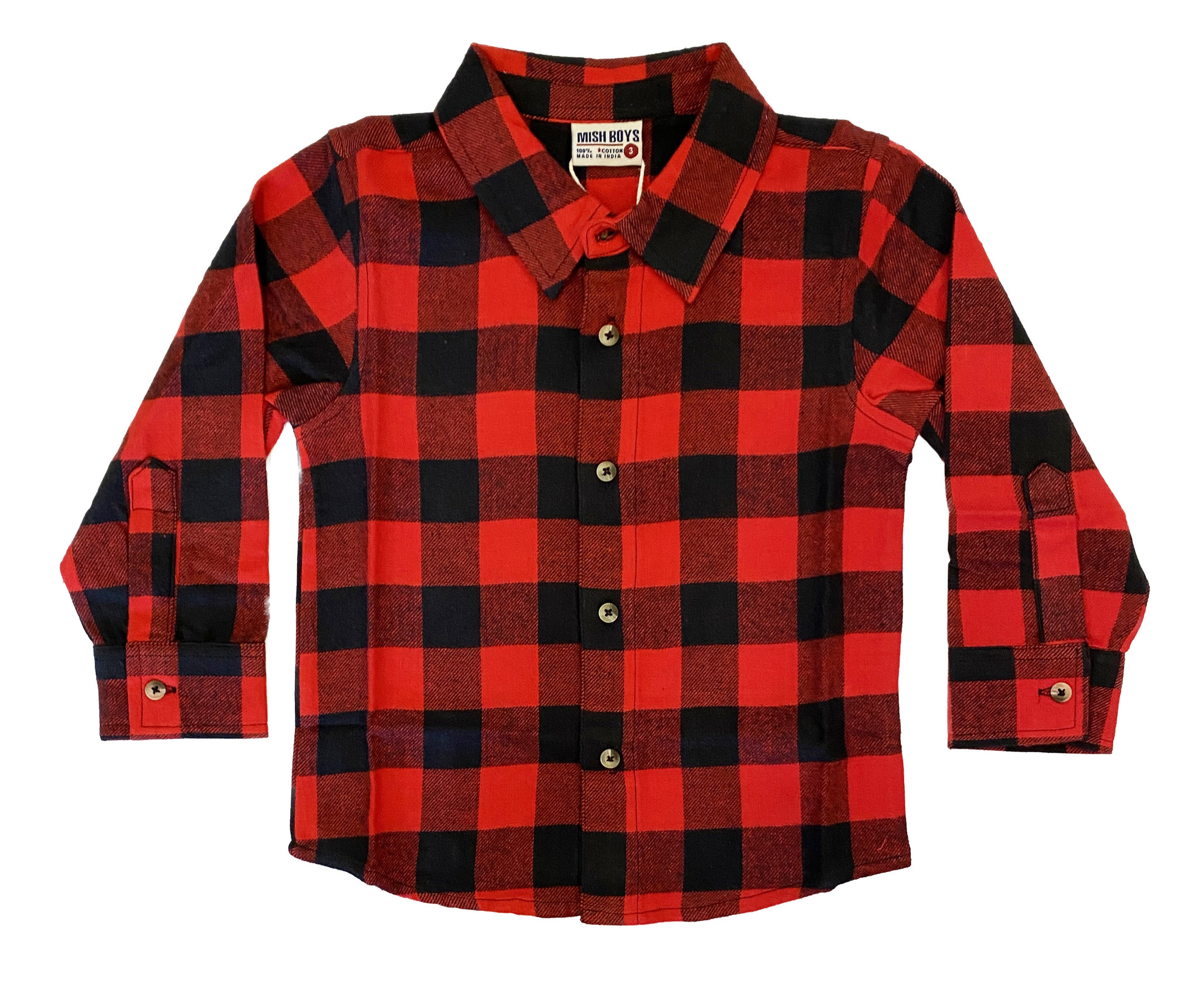Mish Red Plaid  Rock n Roll Flannel Top