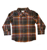 Mish Charcoal Basketball Flannel Top