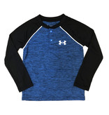 Under Armour Blue Heather Logo Raglan Tee