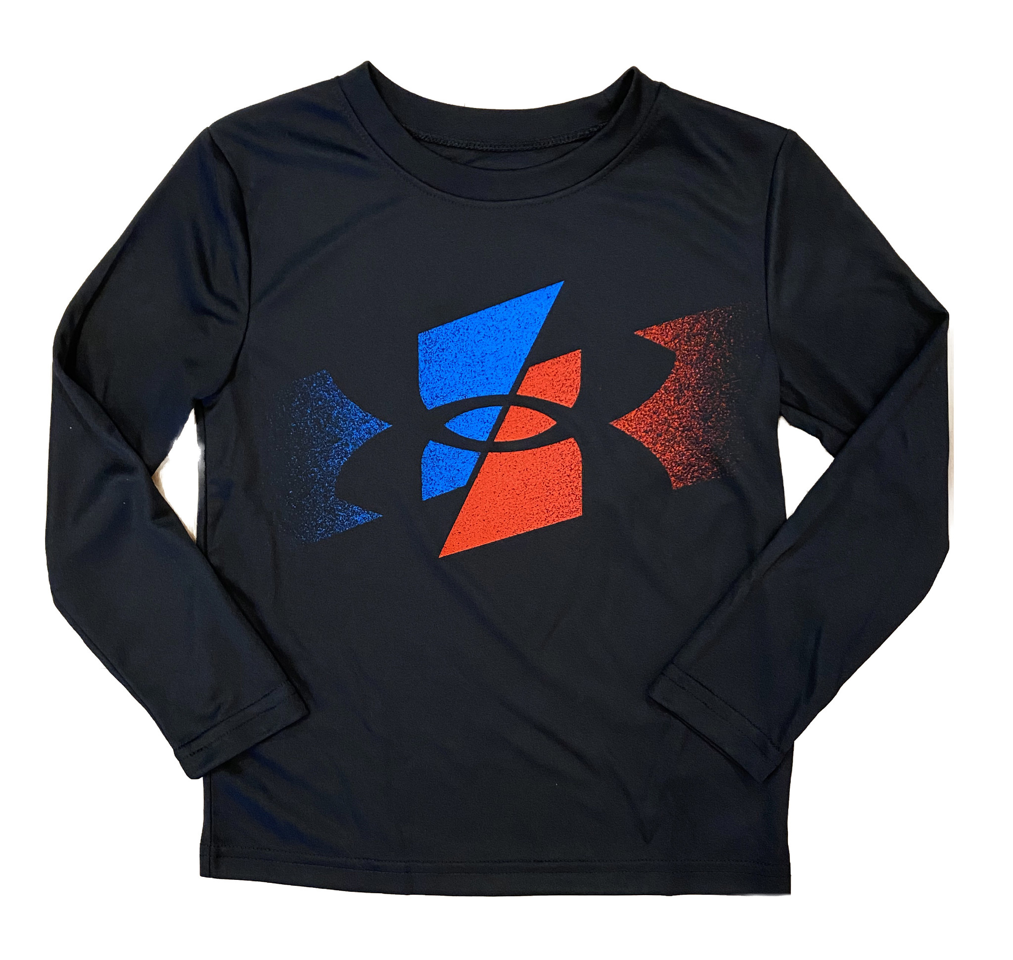 Under Armour Blue Red Logo Tee