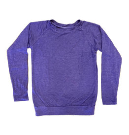Firehouse Purple Raglan Top with Thumbholes