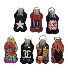 Personal Hand Sanitizer Pouch Keychain