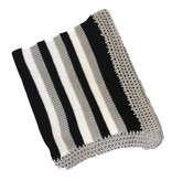 Gita Black, Grey & White Blanket