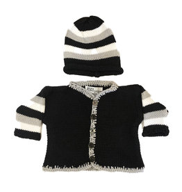 Gita Black, Grey & White Sweater Set