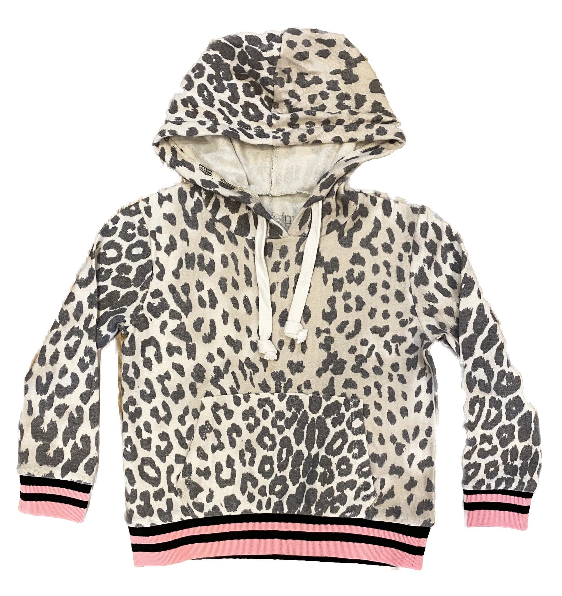 Katie J NYC Leopard Print Hoodie