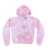 Katie J NYC Pink Cloud Tie Dye Pullover Hoodie