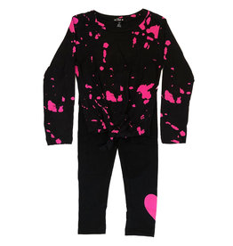 Flowers by Zoe Pink Bleach Knotted Legging Set