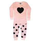 Baby Steps Pink Heart Thermal PJ Set