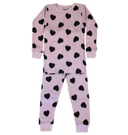 Baby Steps Lilac Heart Thermal Infant  PJ Set