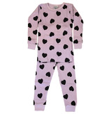 Baby Steps Lilac Heart Thermal PJ Set