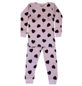 Baby Steps Lilac Heart Thermal PJ Set