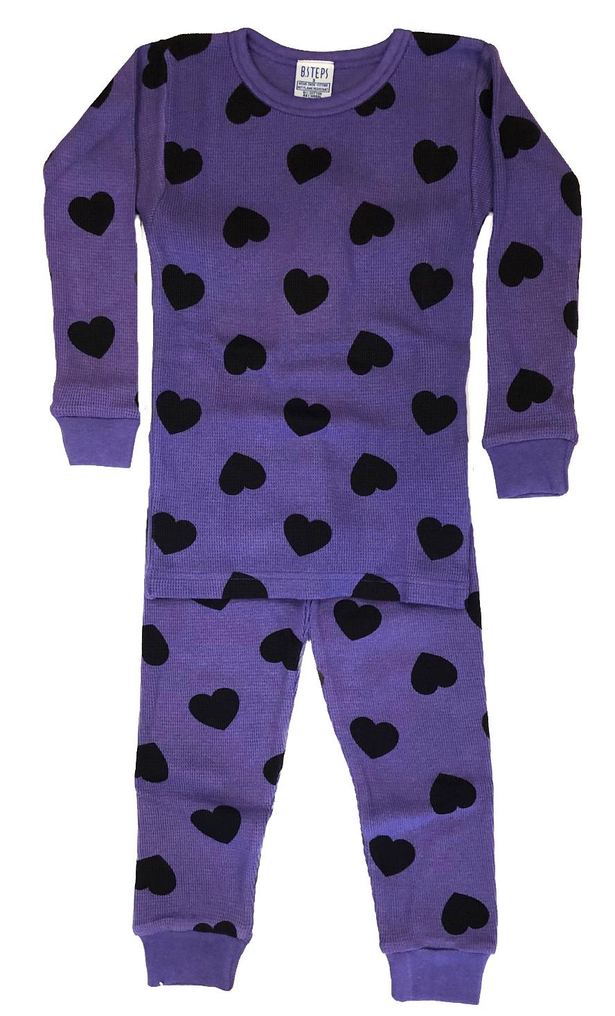 Baby Steps Grape Thermal Infant PJ Set