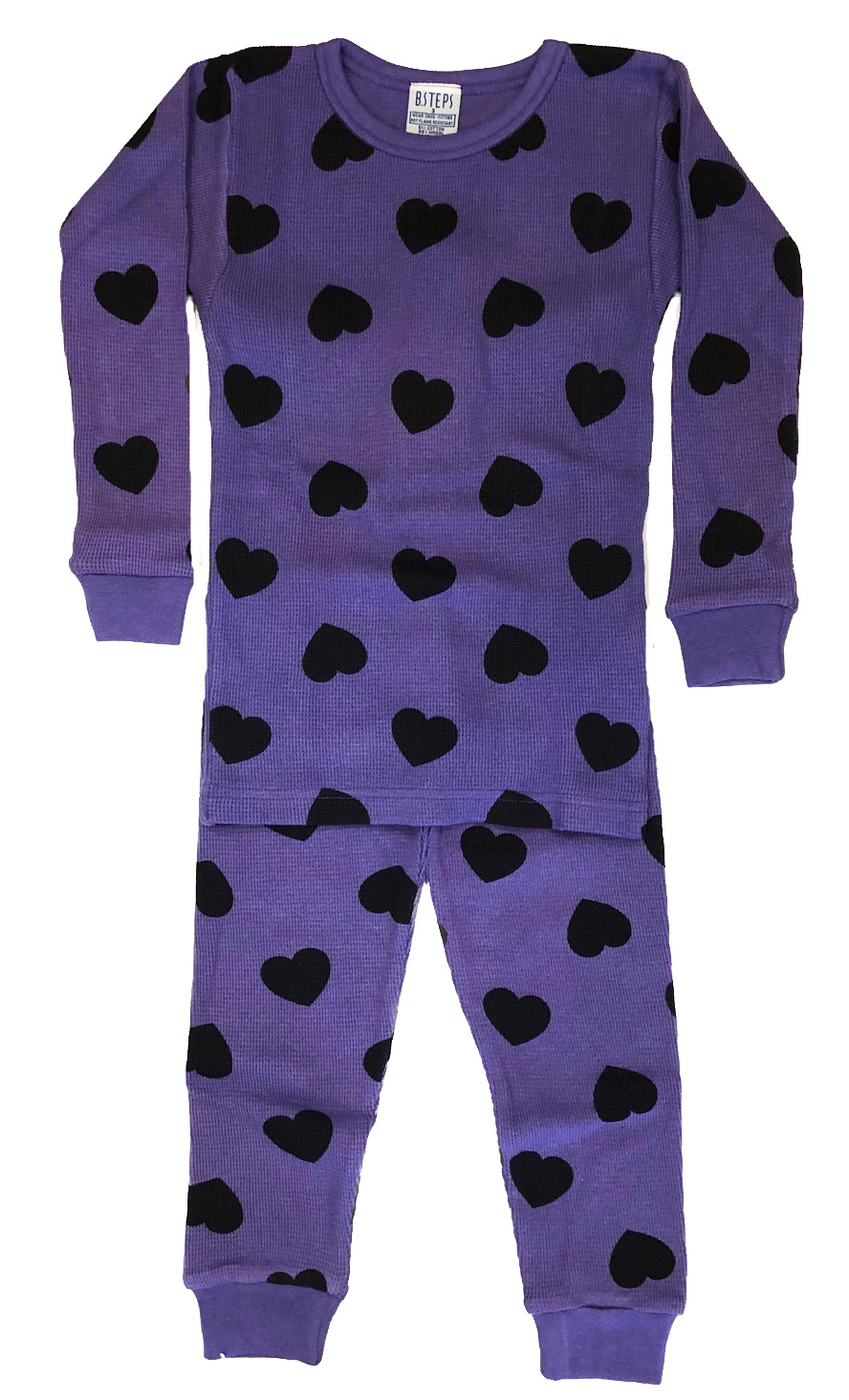Baby Steps Grape Heart Thermal PJ Set
