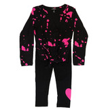 Flowers by Zoe Pink Bleach Knotted Infant Legging Set