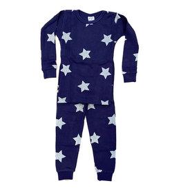 Baby Steps Navy Star Thermal Infant PJ Set