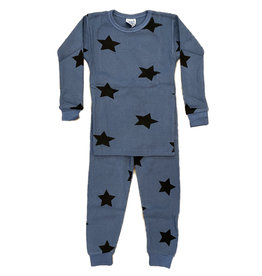 Baby Steps Denim Star Thermal PJ Set