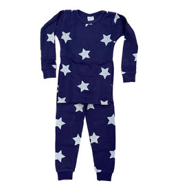 Baby Steps Navy Star Thermal PJ Set