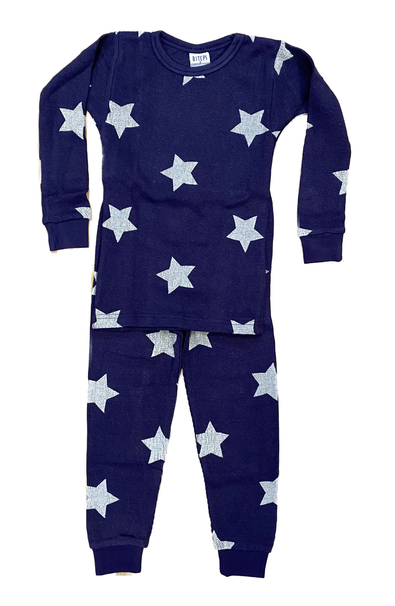 Baby Steps Navy Star Thermal PJ Set