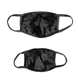 Sofi Heathered Grey Camo Mask for Adults