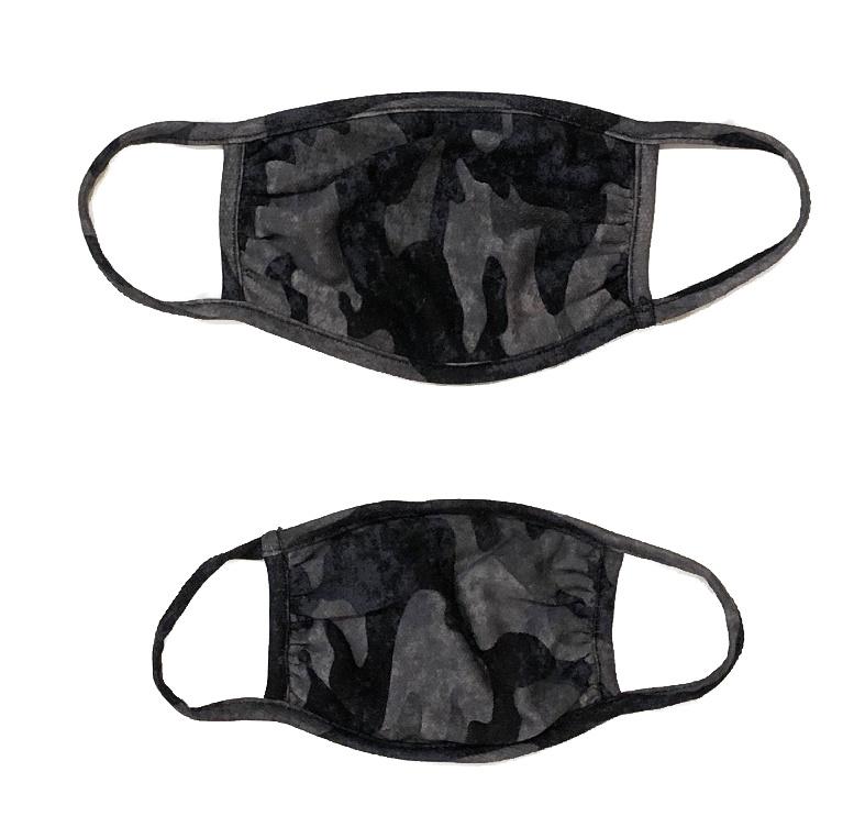Sofi Heathered Grey Camo Mask