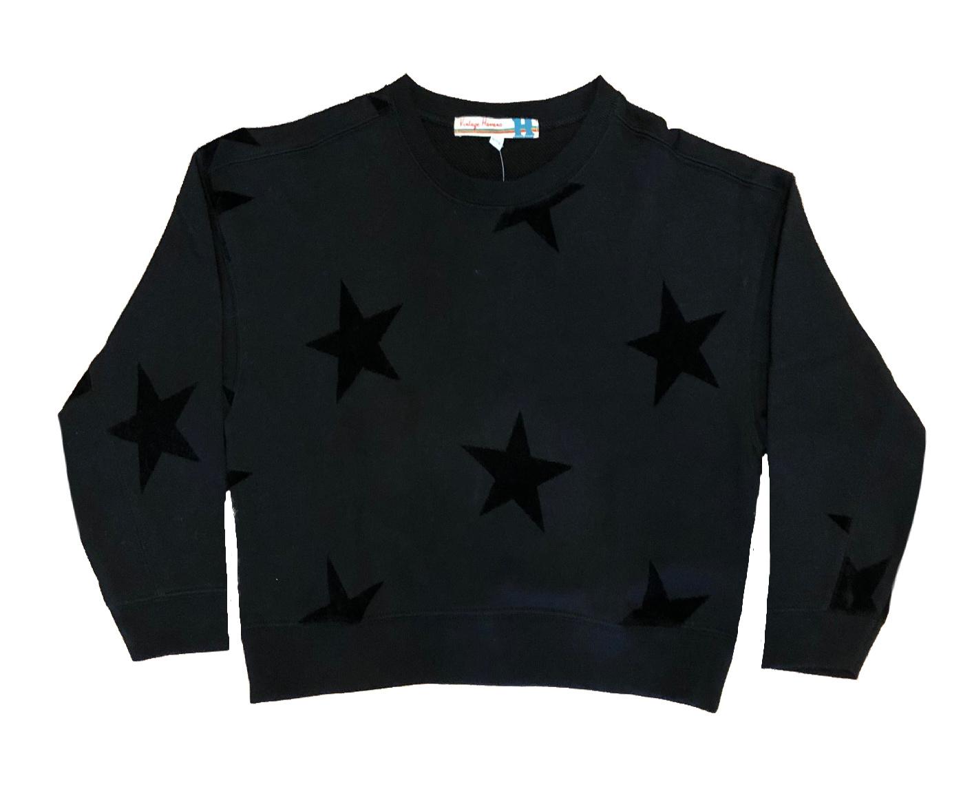 Vintage Havana Flocked Star Sweatshirt