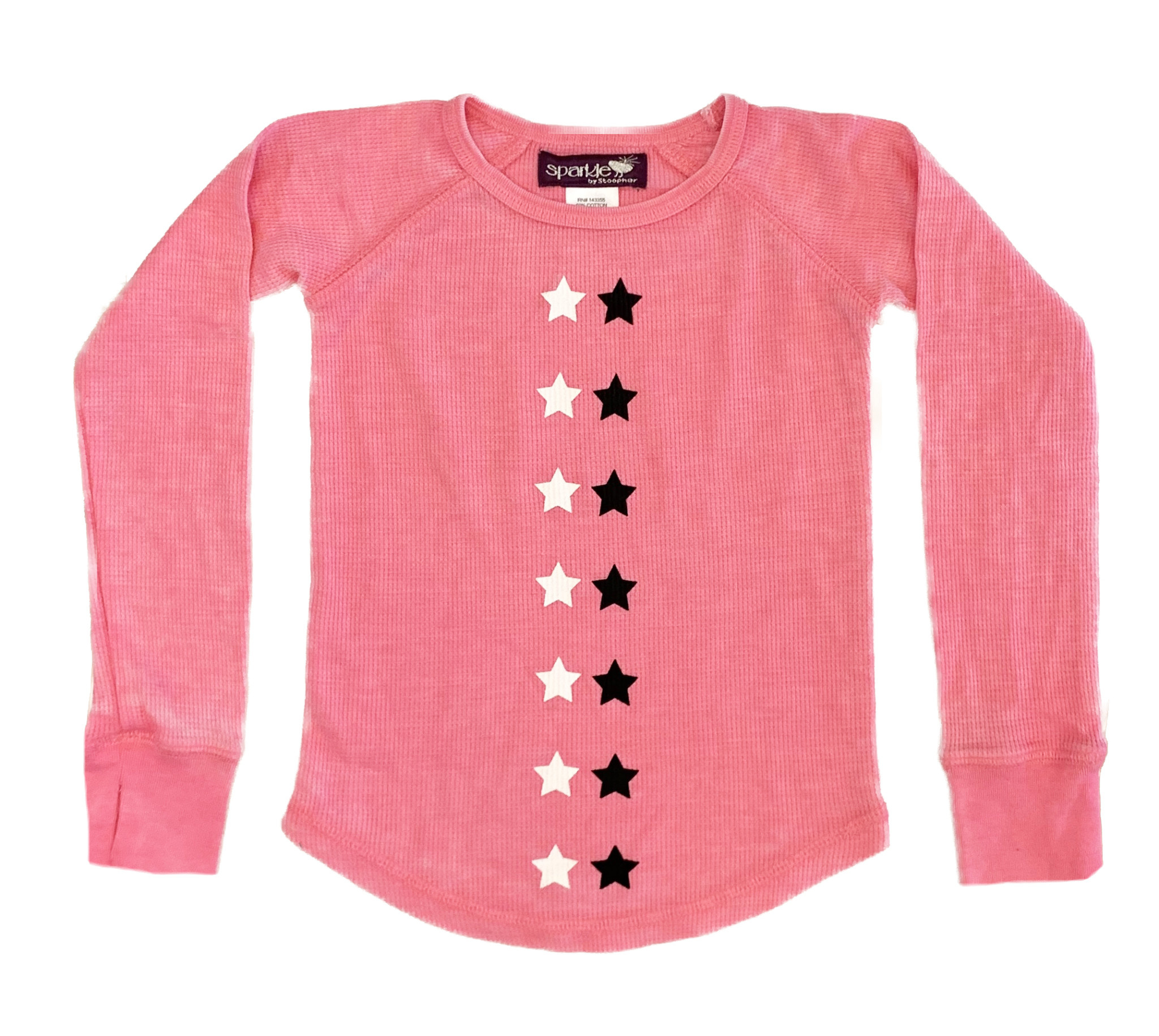 Sparkle Pink Star Line Thermal Top