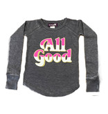Sparkle All Good Grey Thermal Top