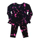 Flowers by Zoe Pink Bleach Ruffled Infant Legging Set