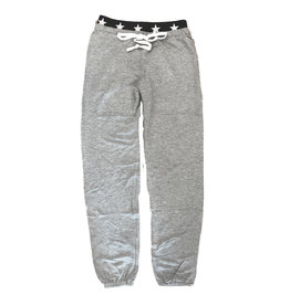 Katie J NYC Grey Star Trimmed Sweatpant