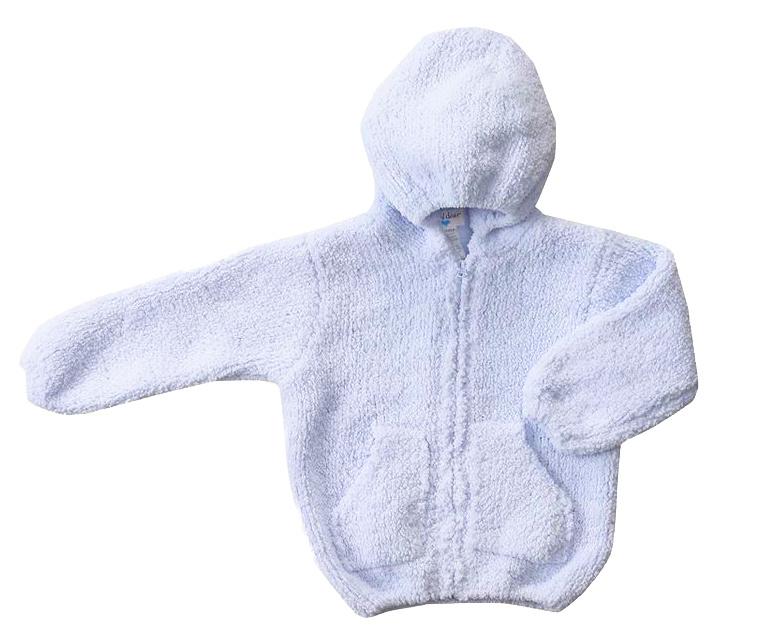Angel Dear Light Blue Chenille Jacket