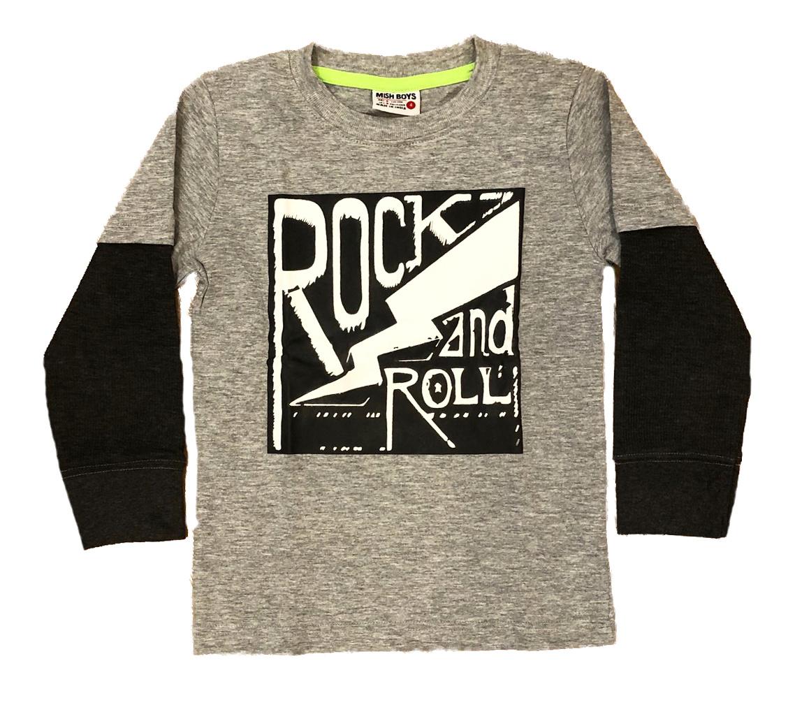 Mish Grey/Black Rock & Roll Tee