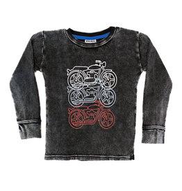 Mish Black Distressed Motorcycle Thermal Tee