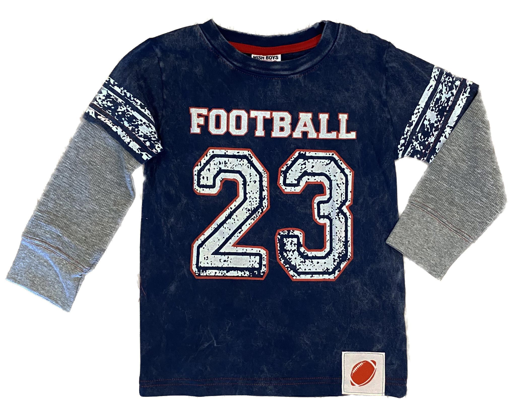 Mish Navy Football 23 Infant Tee