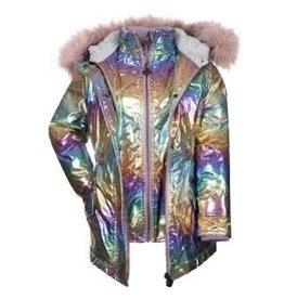 Appaman Rainbow Ombre Middie Puffer Coat